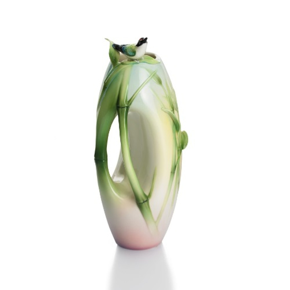 Bamboo Songbird Small Vase | FZ01309 | Franz Porcelain Collection