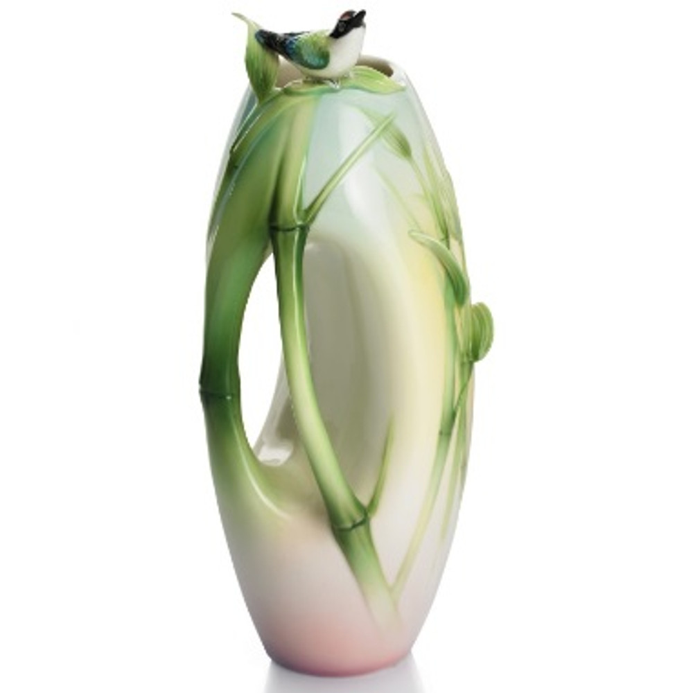 Bamboo Songbird Small Vase | FZ01309 | Franz Porcelain Collection -2