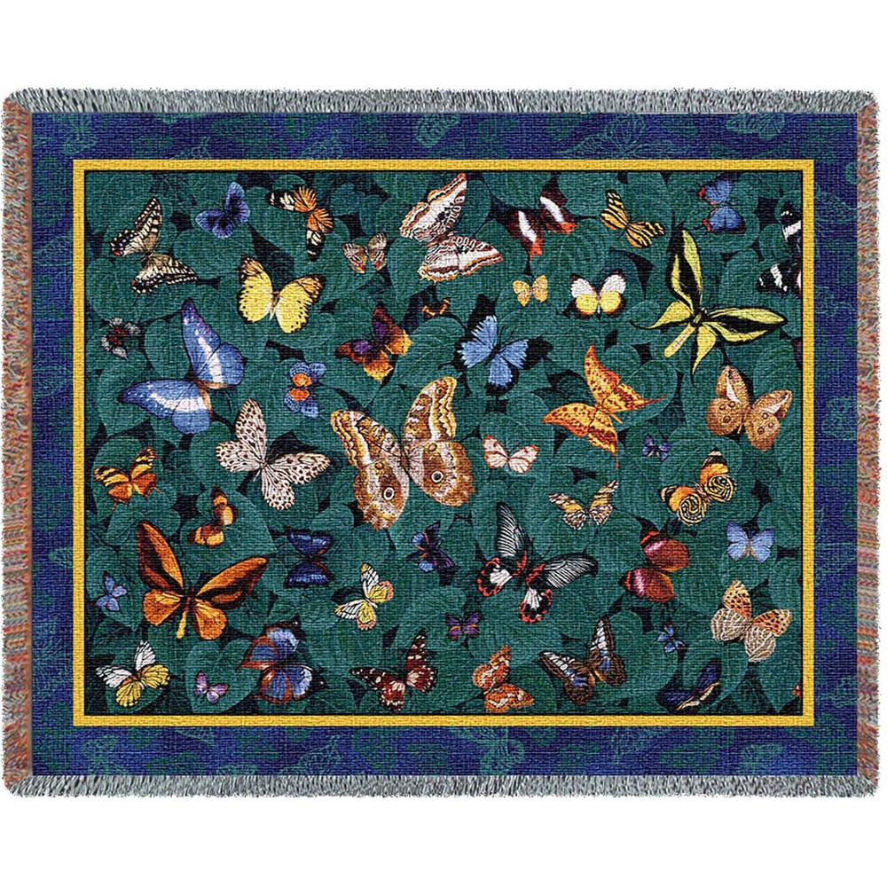Butterfly Dance Woven Throw Blanket | Pure Country | pc1211T