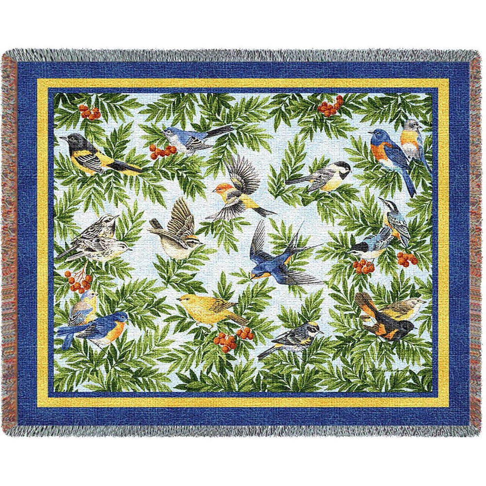 Songbird Woven Throw Blanket   Pure Country   pc1219T