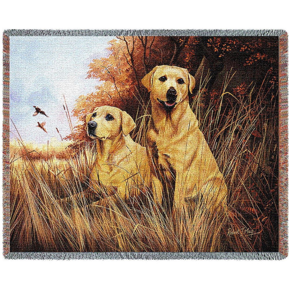 Yellow Lab Woven Throw Blanket   Pure Country   pc1934T
