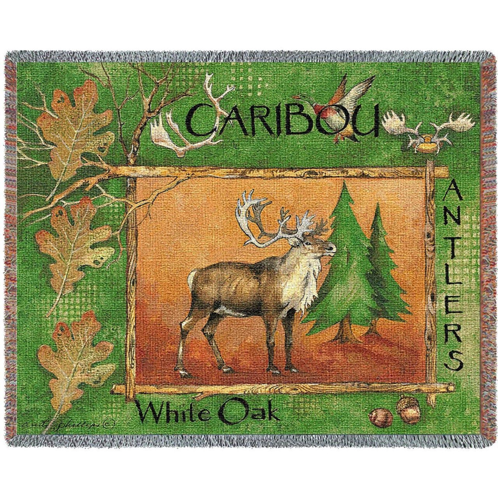 Caribou Woven Throw Blanket   Pure Country   pc2316T
