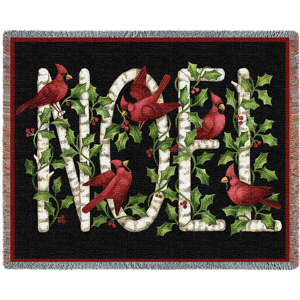Cardinal Noel Tapestry Throw Blanket | Pure Country | pc2441T