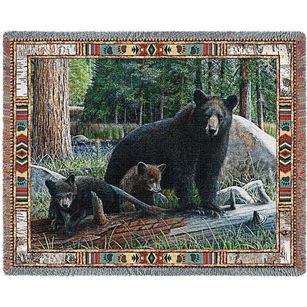 New Discoveries Bear Tapestry Throw Blanket | Pure Country | pc3759t