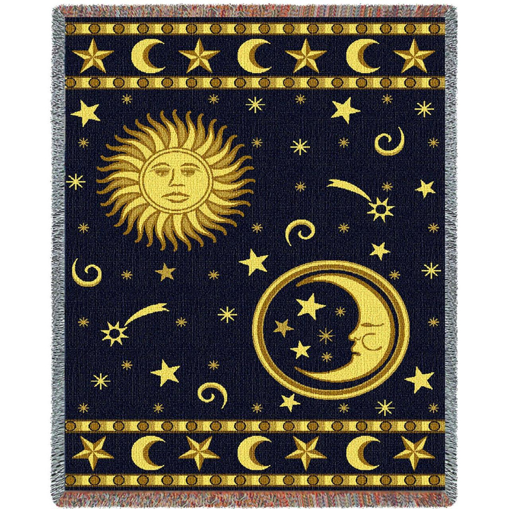 Moon and Stars Throw Blanket | Pure Country | PC5194T