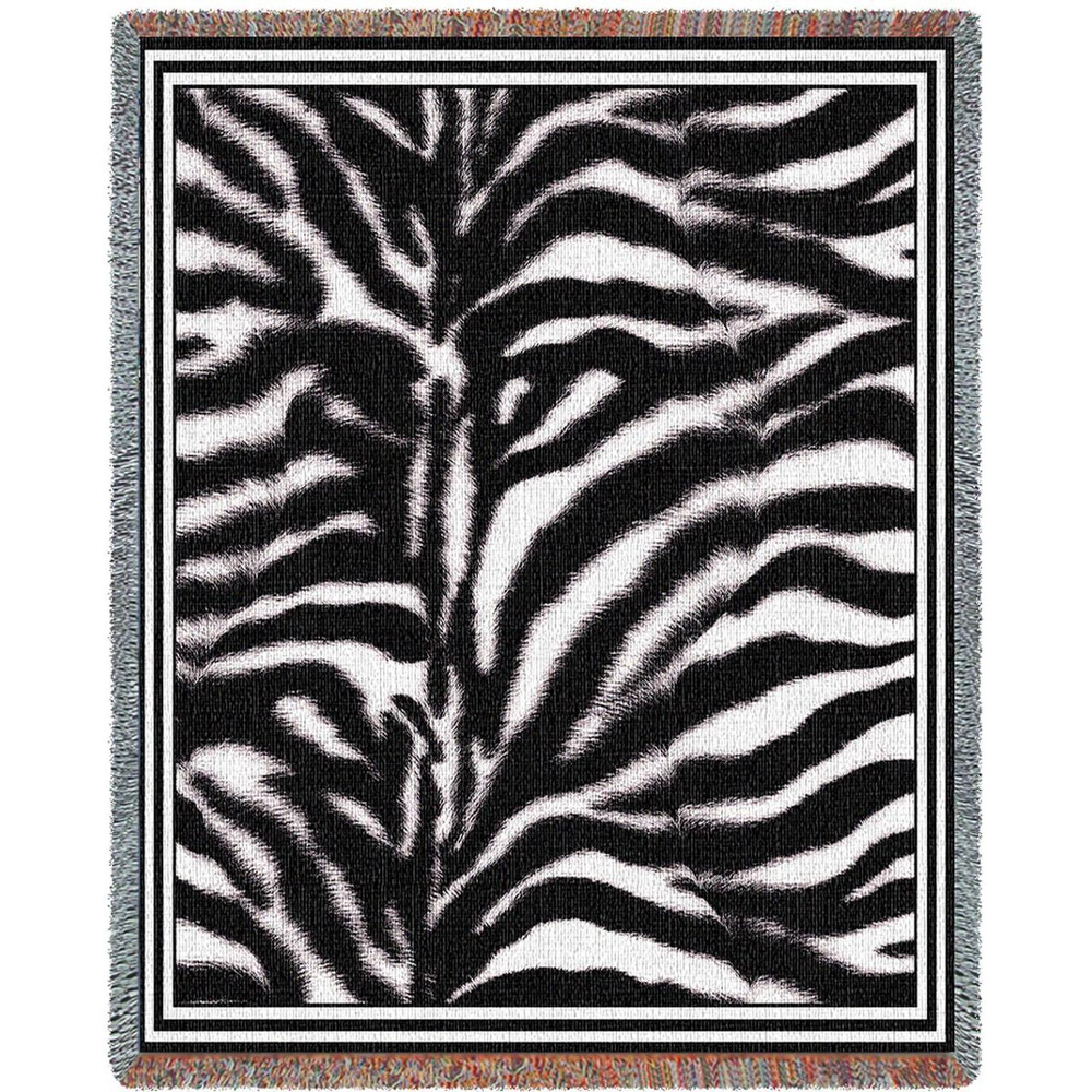Zebra Print Tapestry Throw Blanket | Pure Country | pc874T