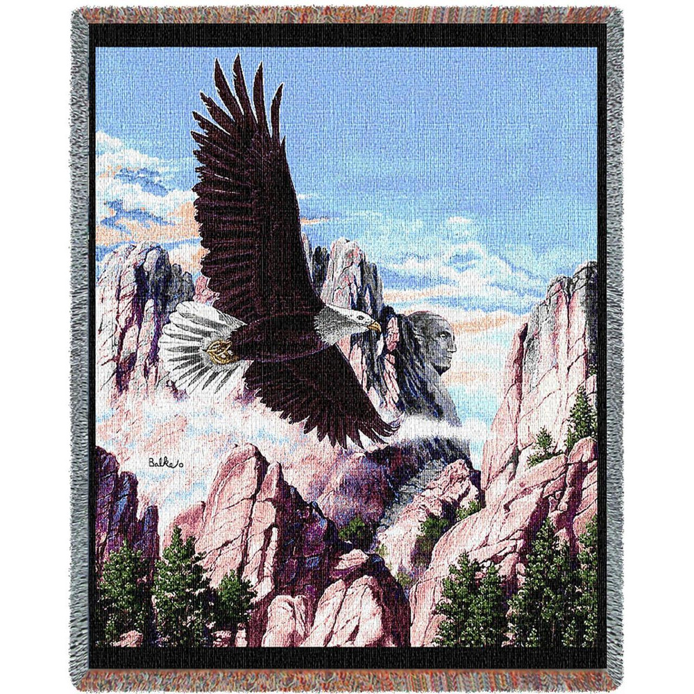 Eagle Tapestry Throw Blanket Let Freedom Ring   Pure Country   PC970-T