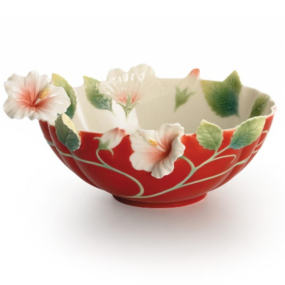 Island Beauty Hibiscus Bowl | FZ01625 | Franz Porcelain Collection