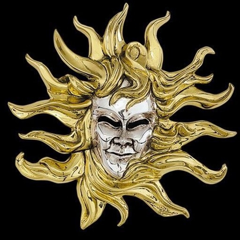 Sun LTD ED Mask Wall Art Sculpture | 2106 | D'Argenta