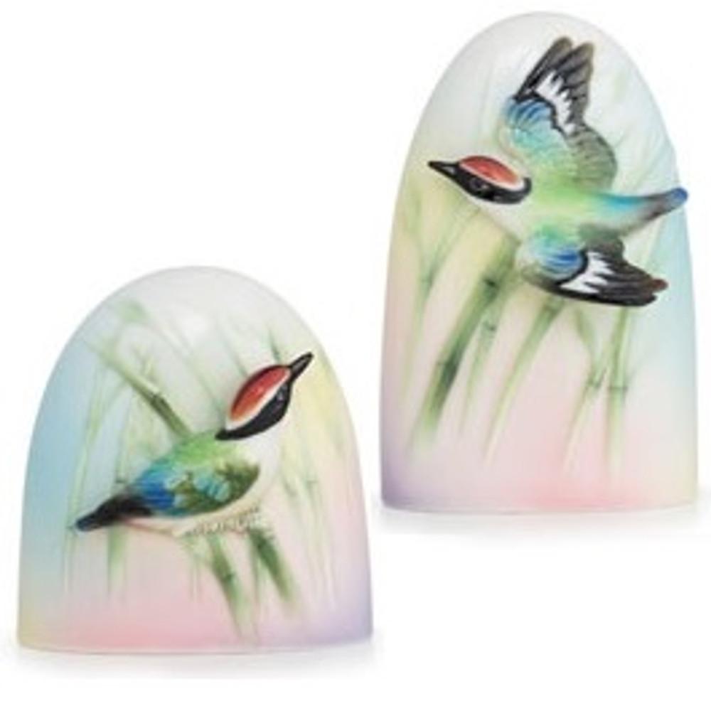 Bamboo Songbird Salt Pepper Shakers | FZ01692 | Franz Porcelain Collection -2