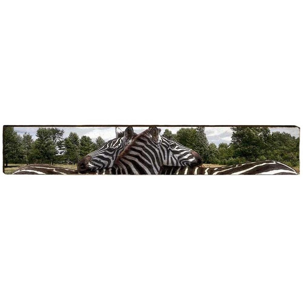 Zebra Wood Panel Wall Art   Mill Wood   MWZEB2L