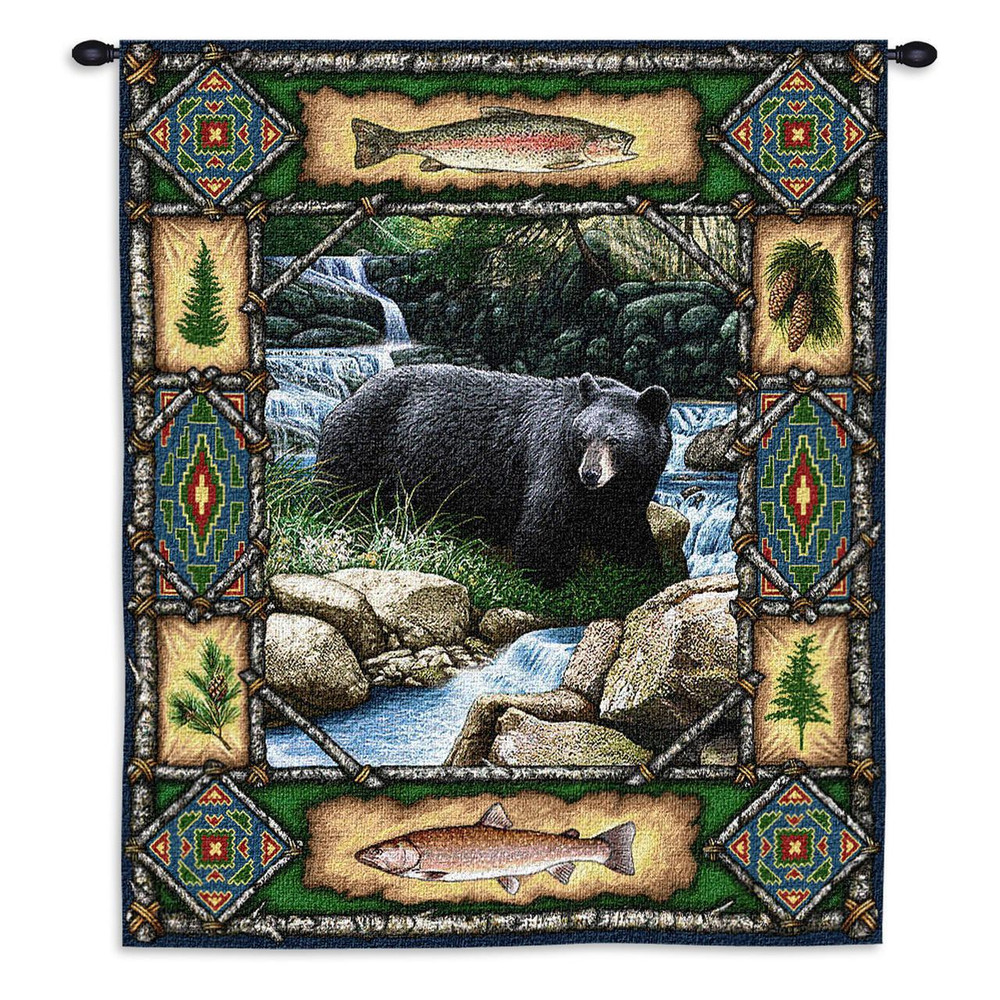 Black Bear Lodge Tapestry Wall Hanging | Pure Country | pc1572WH