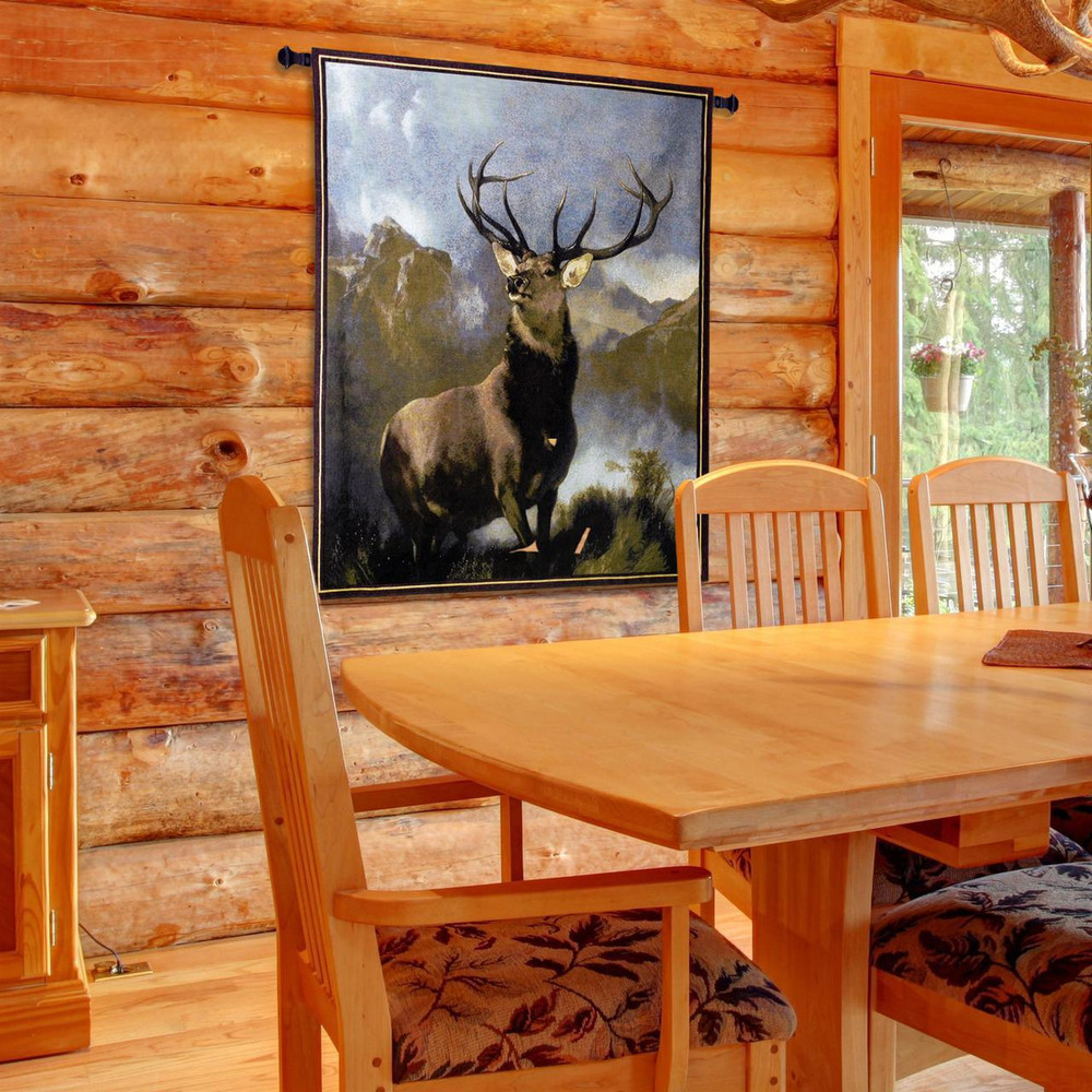 Monarch of the Glen Elk Tapestry Wall Hanging | Pure Country | pc1920wh