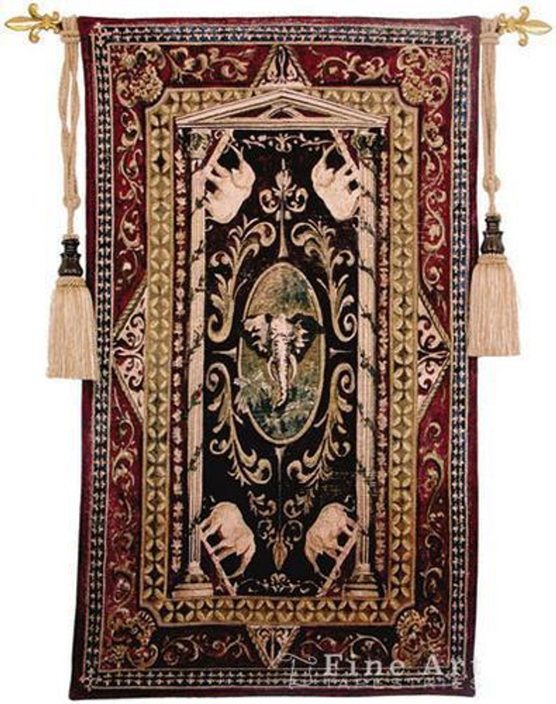 Elephant Tribute Tapestry Wall Hanging   Pure Country   PC2028wh
