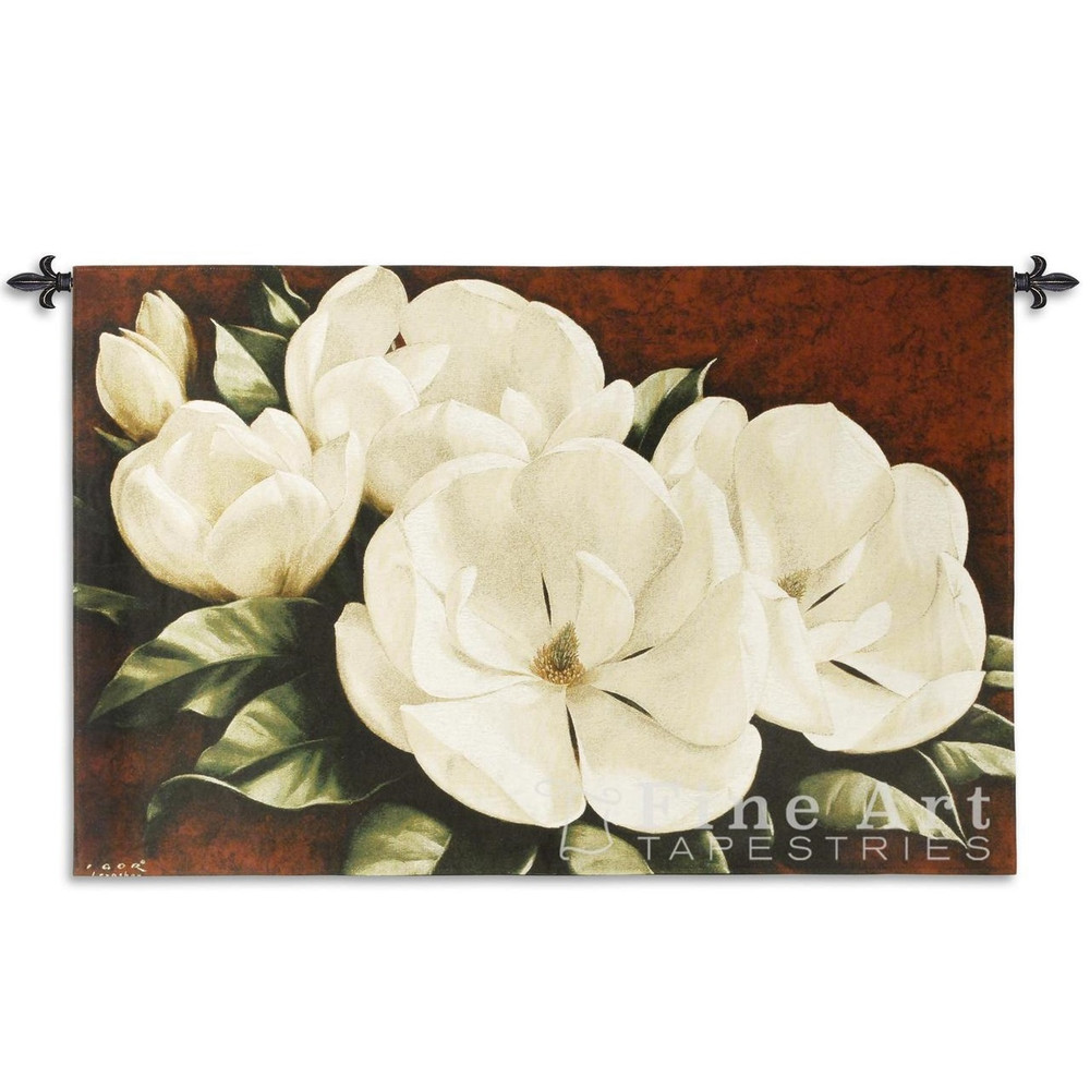 Magnolia Crimson TapestryWall Hanging | Pure Country | PC2185-WH