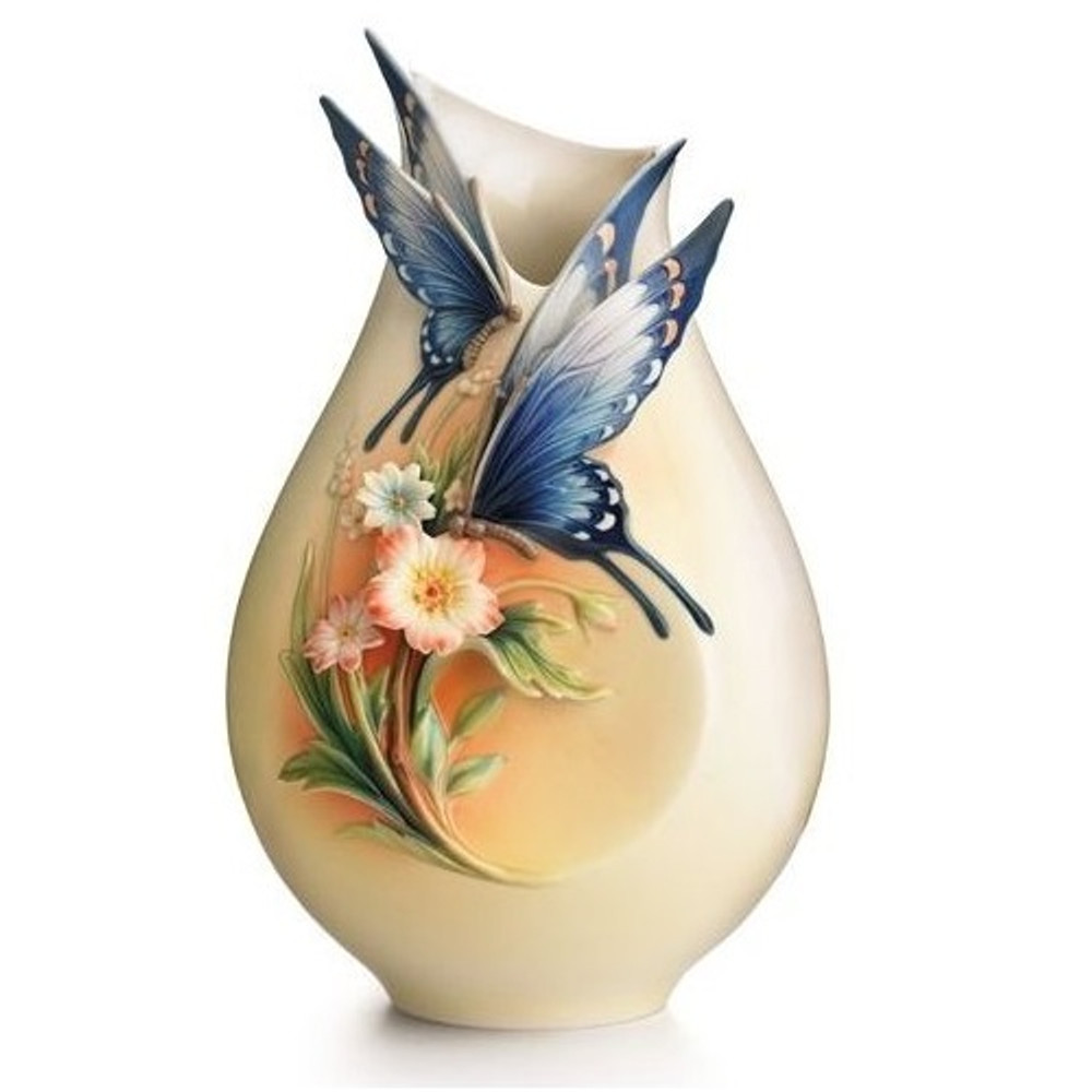Fluttering Beauty Butterfly Vase | FZ01839 | Franz Porcelain Collection