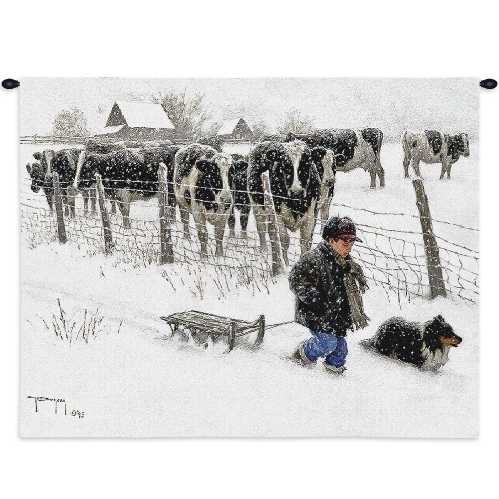 Curious Onlookers Cow Tapestry Wall Hanging | Pure Country | pc2325wh
