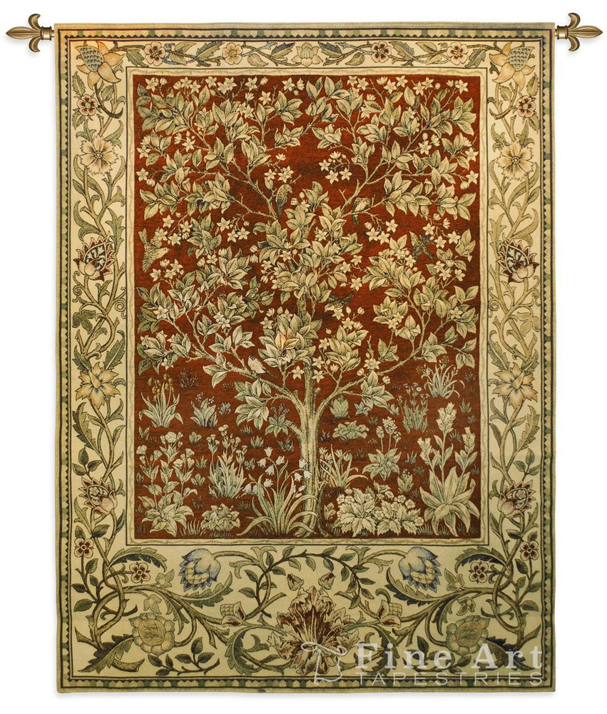 Tree of Life Ruby Tapestry Wall Hanging   Pure Country   PC2767wh