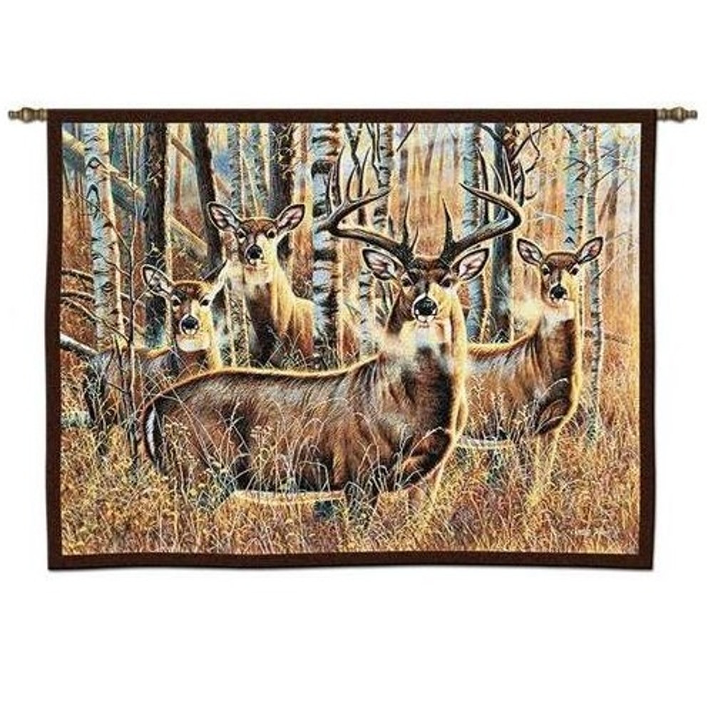 Deer Tapestry Wall Hanging Sudden Encounter | Pure Country | pc4719WH