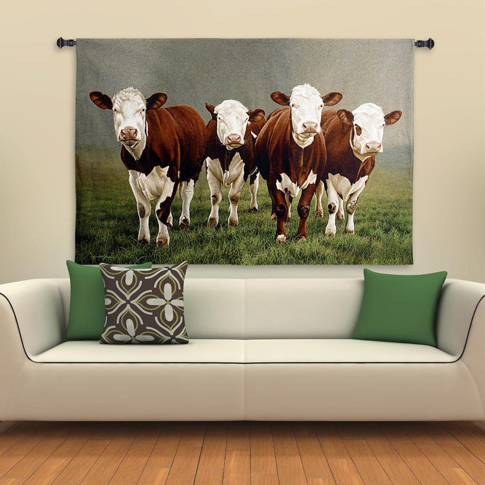 Fab Four Cow Tapestry Wall Hanging | Pure Country | pc5304wh
