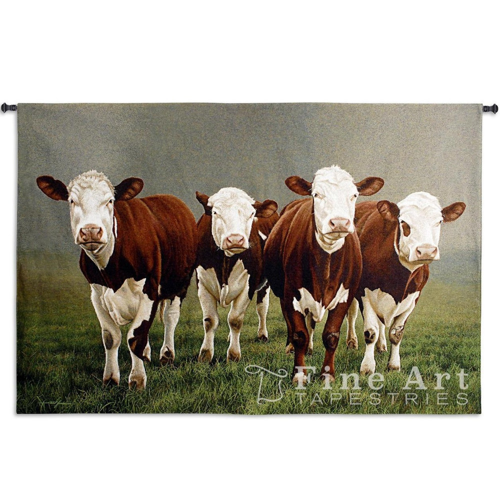 Fab Four Cow Tapestry Wall Hanging | Pure Country | pc5304wh -2