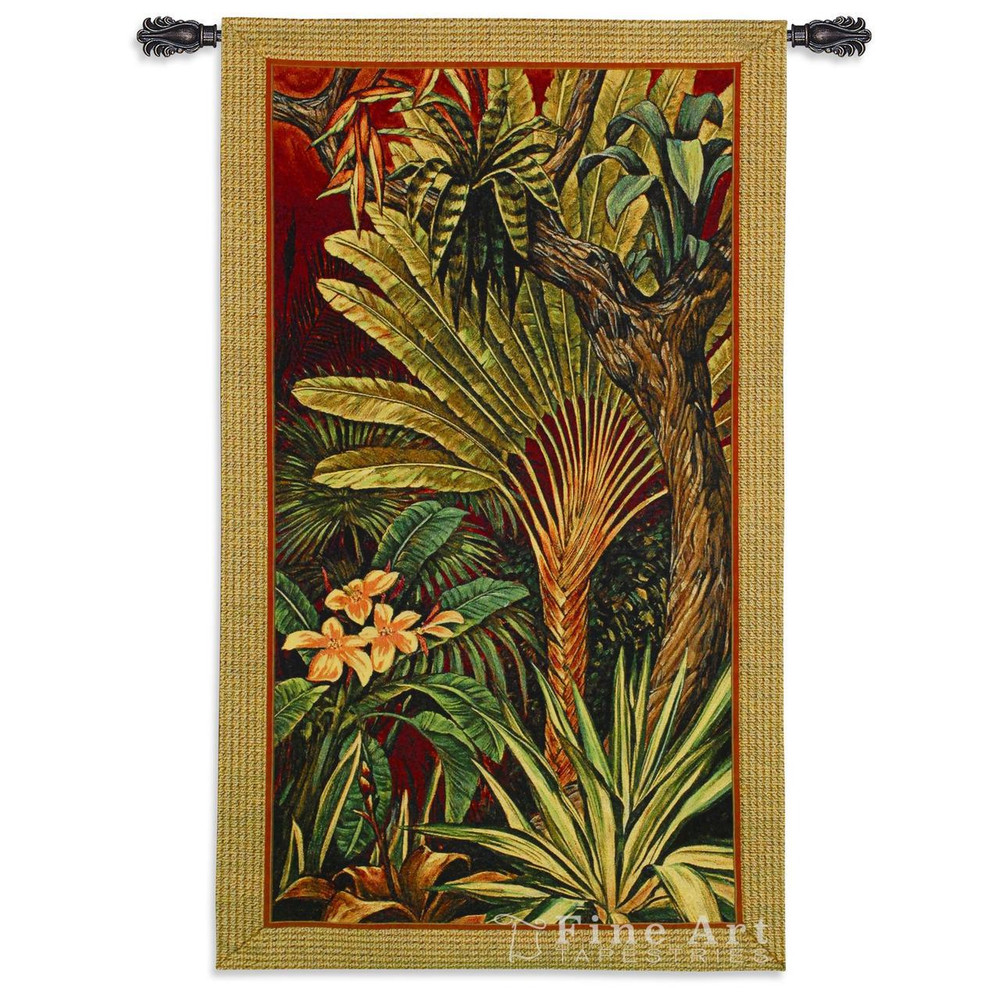 Palm Tree Tapestry Wall Hanging Bali Garden II   Pure Country   pc5528WH