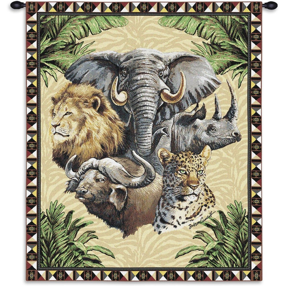 Big Five Safari Animals Tapestry Wall Hanging | Pure Country | pc767wh