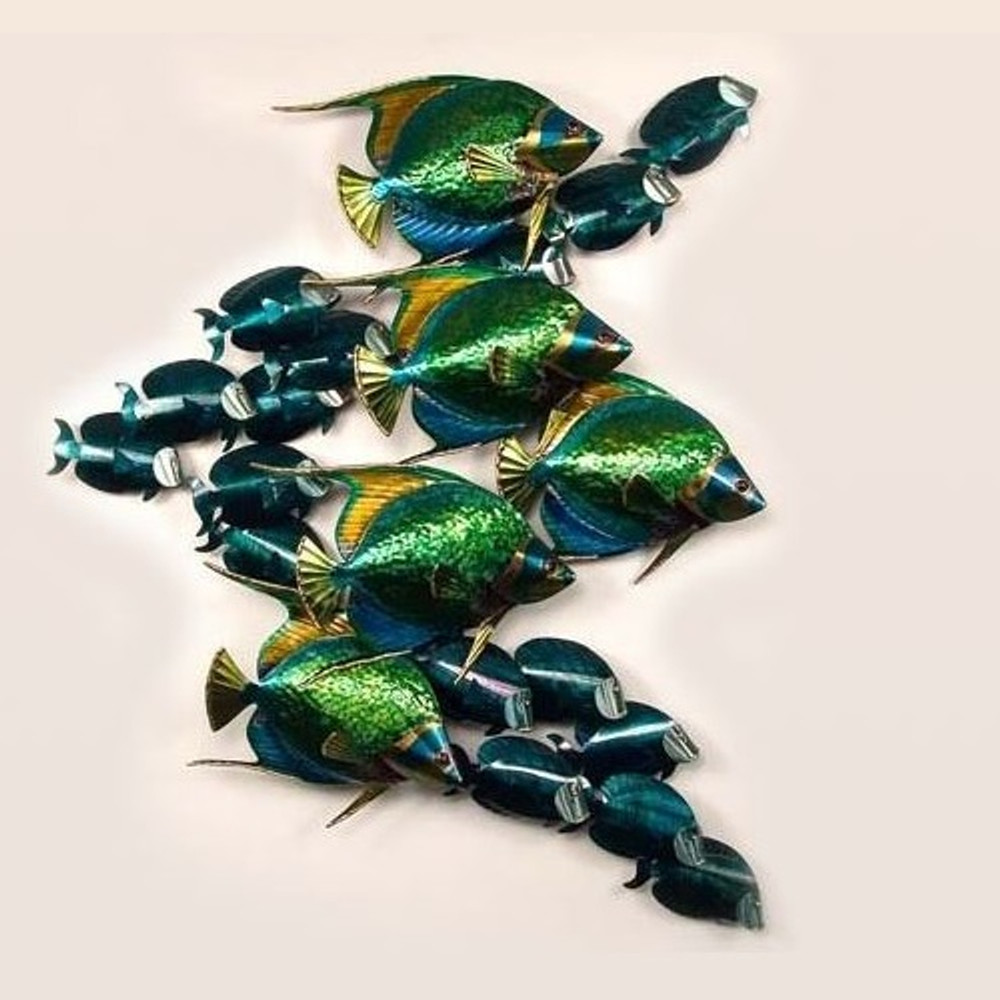 Angelfish and Tang Metal Wall Sculpture   TI Design   CO131