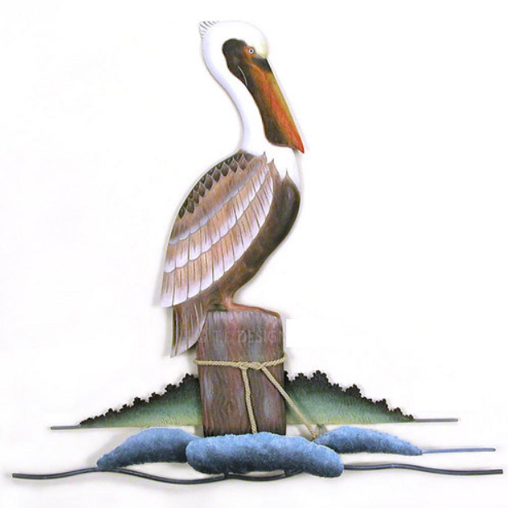 Lone Pelican Wall Sculpture | TI Design | CW166