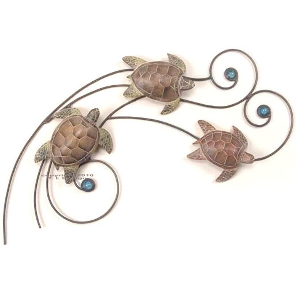 Sea Turtle Wave Wall Sculpture Small | TI Design | tiCW193