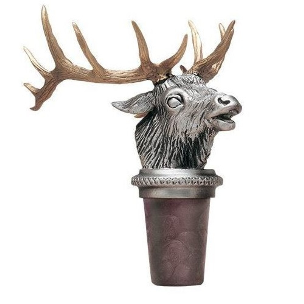Elk Bottle Stopper | Heritage Pewter | HPIBS8537