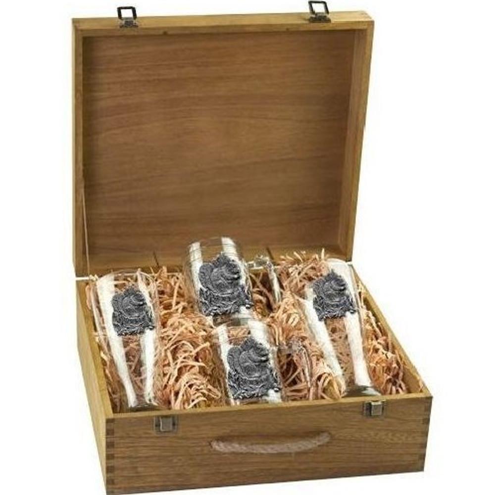 Squirrel Beer Glass Boxed Set | Heritage Pewter | HPIBSB4138