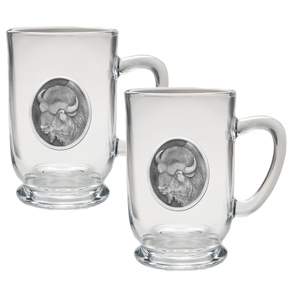 Buffalo Coffee Mug Set of 2 | Heritage Pewter | HPICM206CL