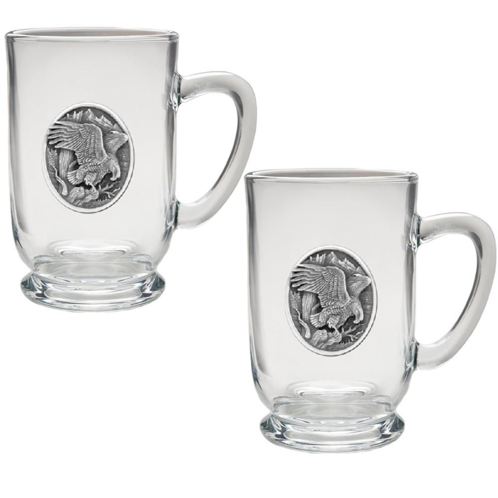 Eagle Coffee Mug Set of 2   Heritage Pewter   HPICM215CL