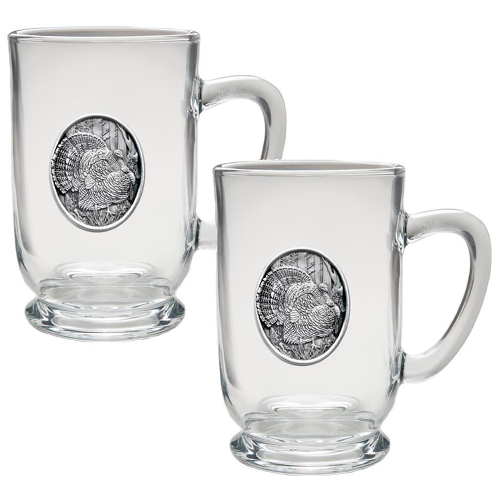 Turkey Coffee Mug Set of 2 | Heritage Pewter | HPICM225CL