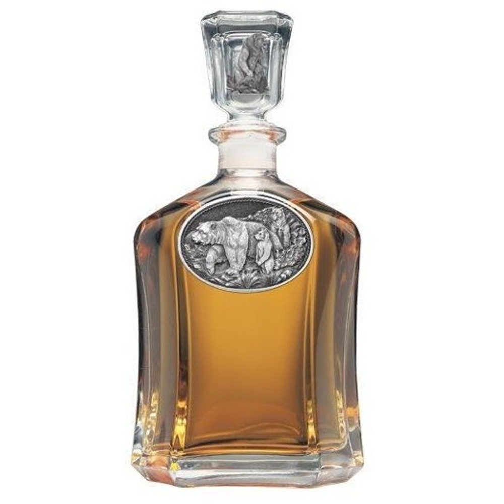 Grizzly Bear Decanter | Heritage Pewter | HPICPT105