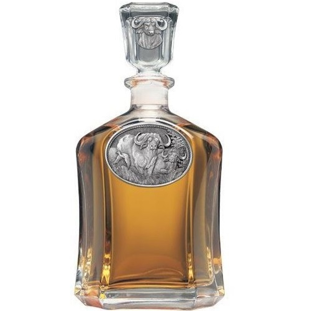 Cape Buffalo Decanter | Heritage Pewter | HPICPT121