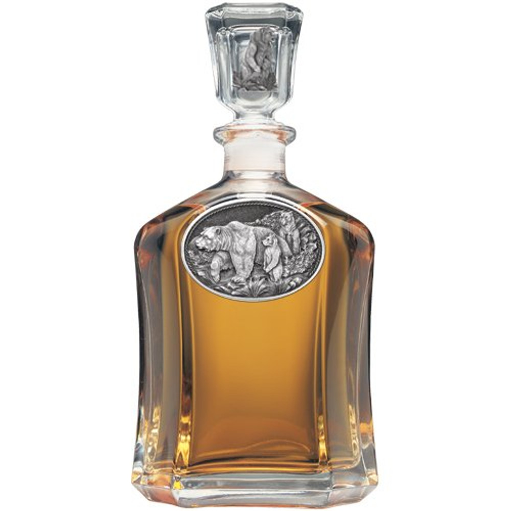 Grizzly Bear Decanter Set | Heritage Pewter | HPICPTB105 -2