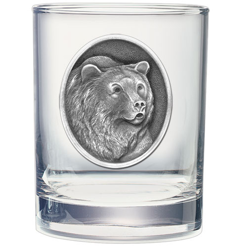 Grizzly Bear Decanter Set   Heritage Pewter   HPICPTB105 -3