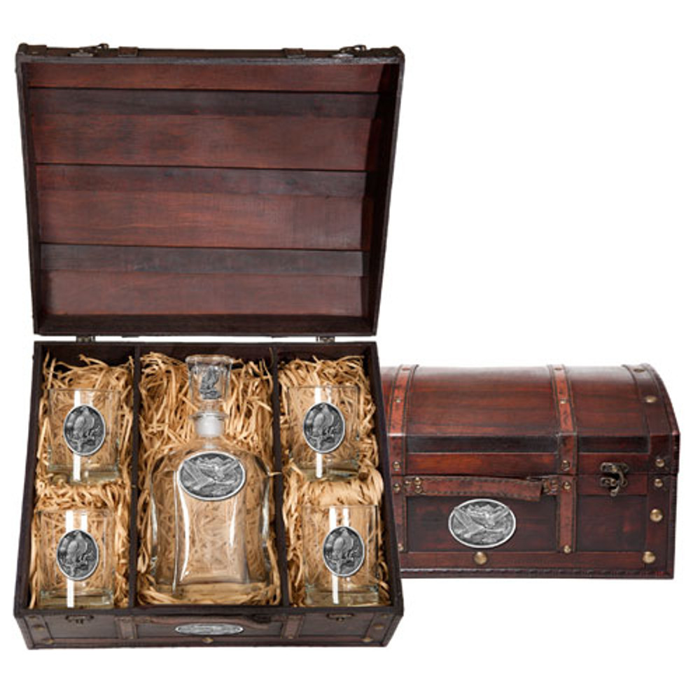 Eagle Decanter Chest Set | Heritage Pewter | HPICPTC109