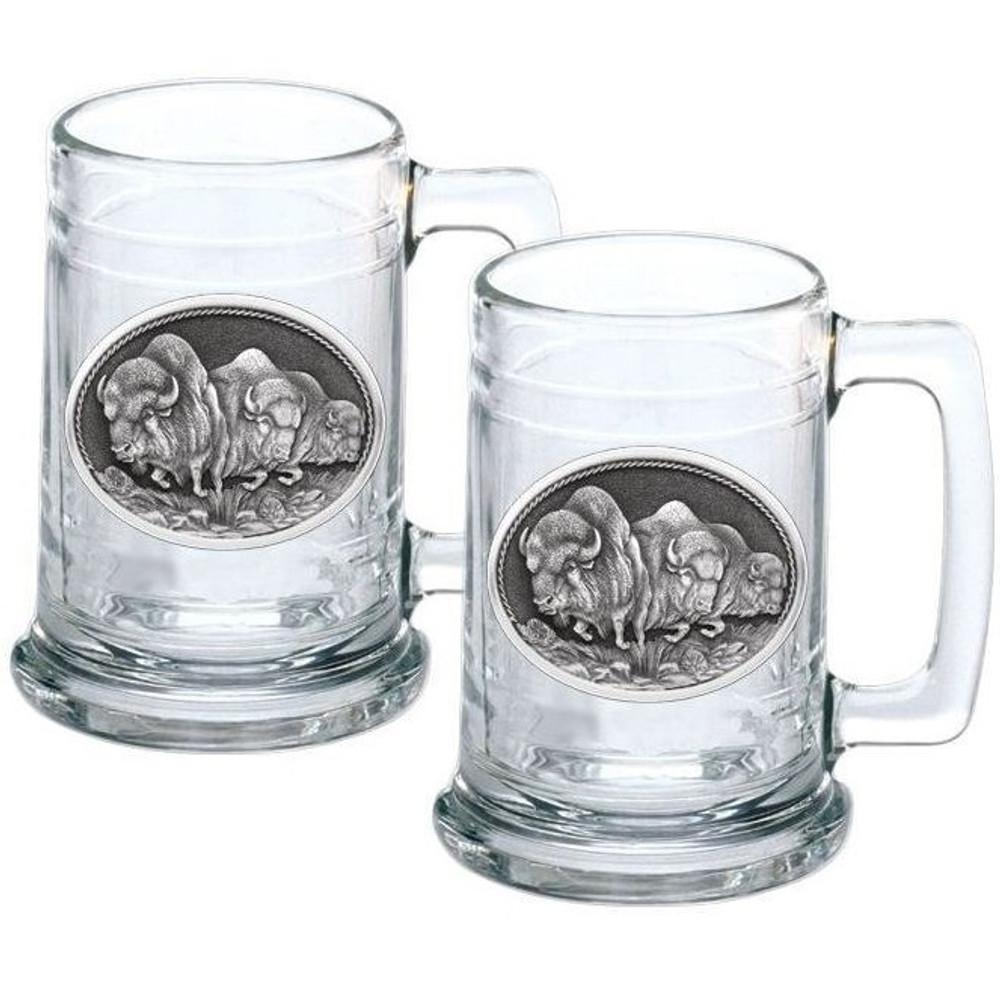 Buffalo Stein Set of 2 | Heritage Pewter | HPIST101