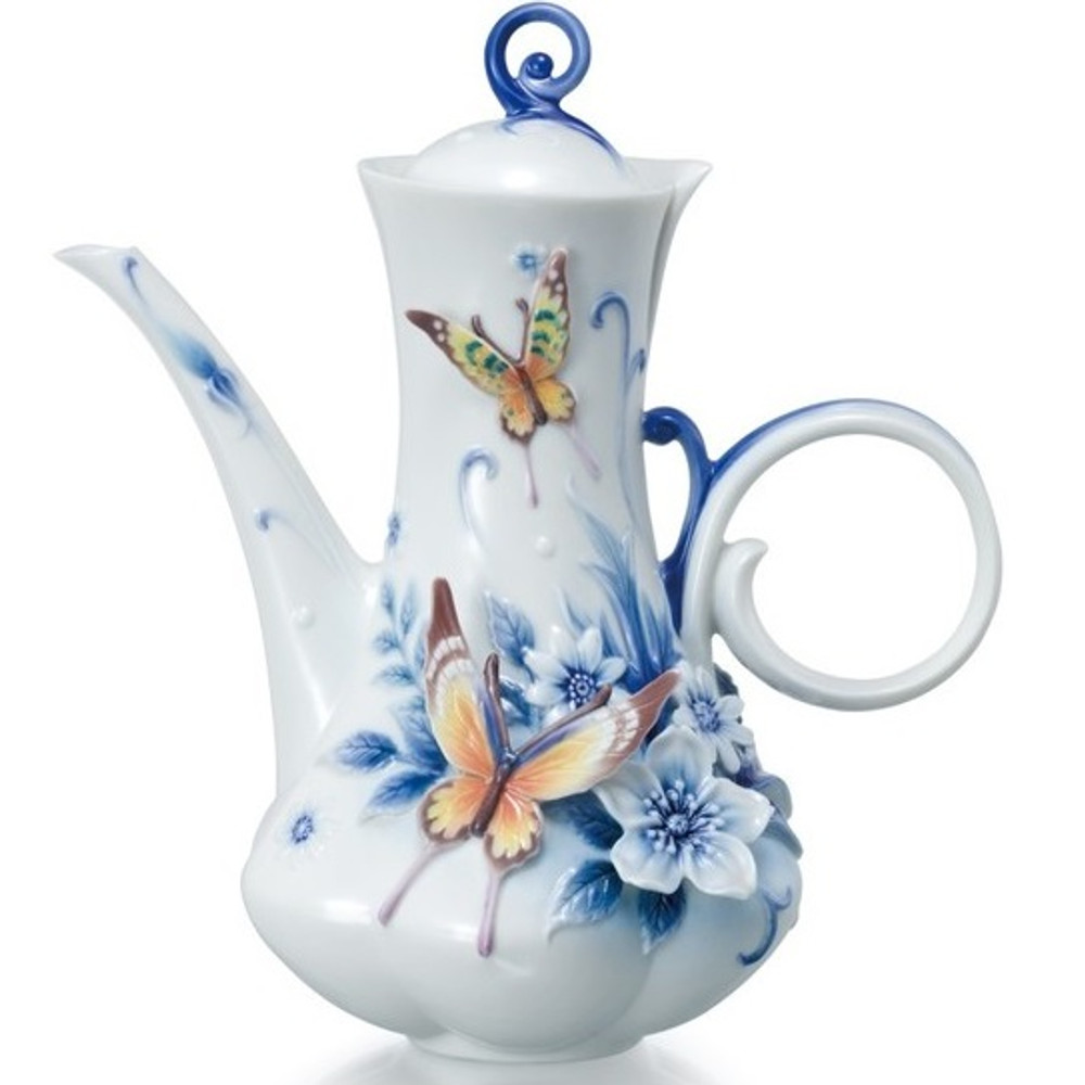 Forever Wedding Butterfly Teapot   FZ02106   Franz Porcelain Collection