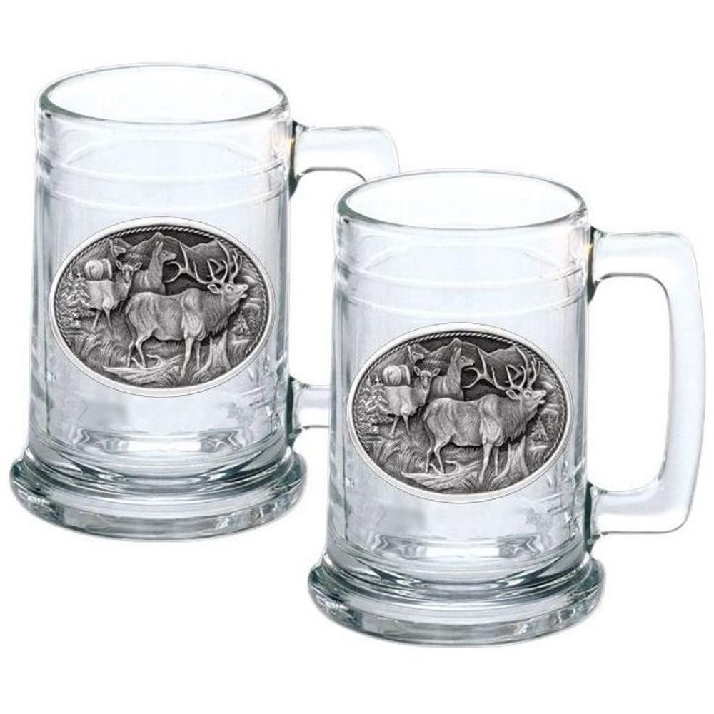 Elk Stein Set of 2 | Heritage Pewter | HPIST104