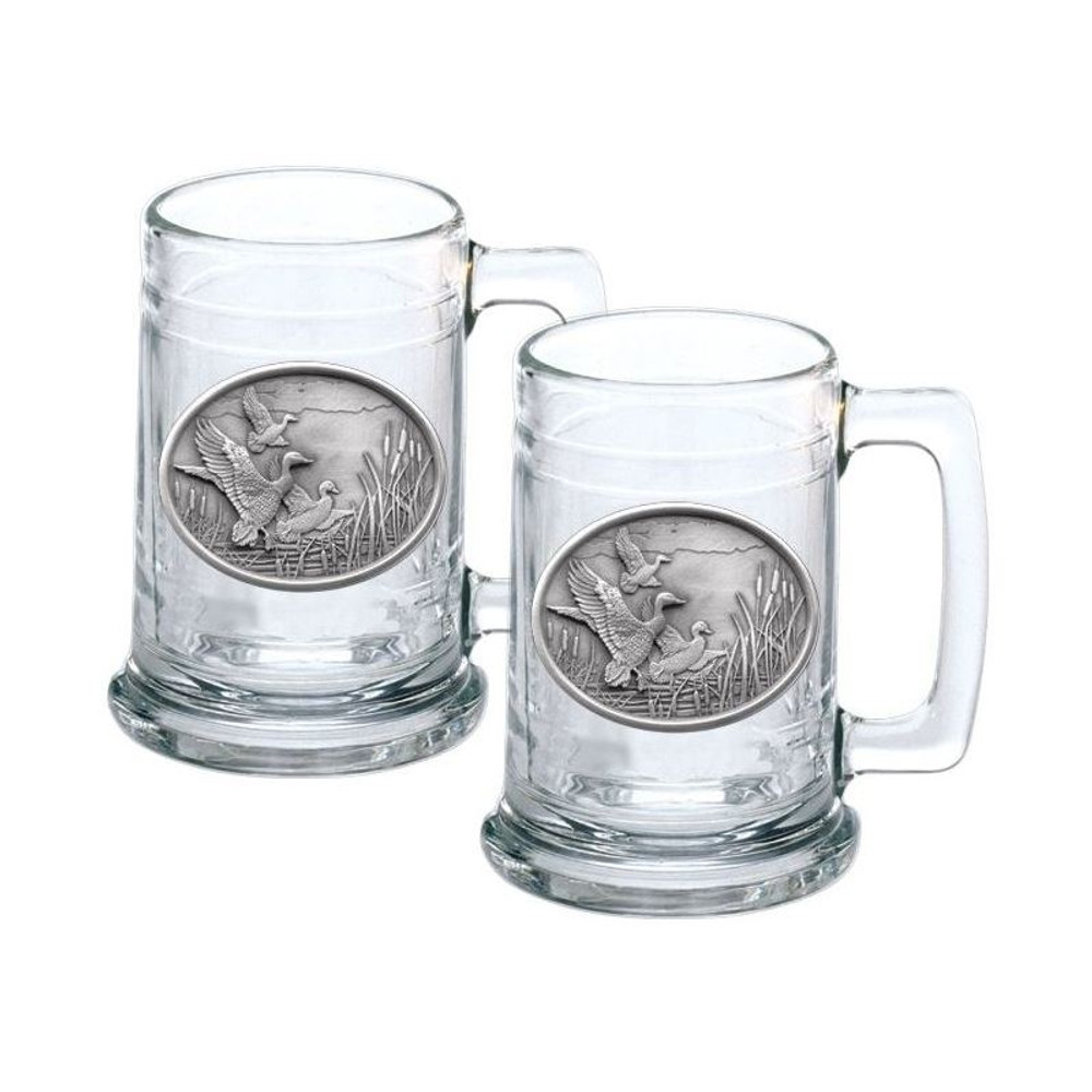 Mallard Stein Set of 2 | Heritage Pewter | HPIST122