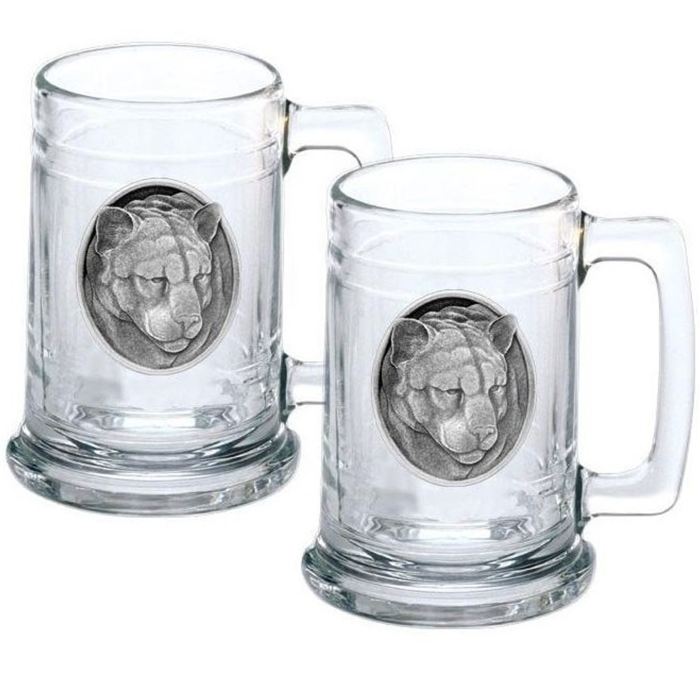 Mountain Lion Stein Set of 2 | Heritage Pewter | HPIST208