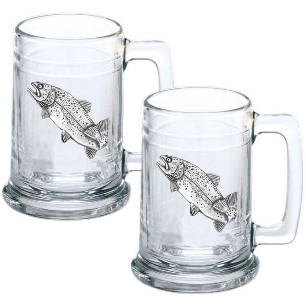 Trout Stein Set of 2 | Heritage Pewter | HPIST4034