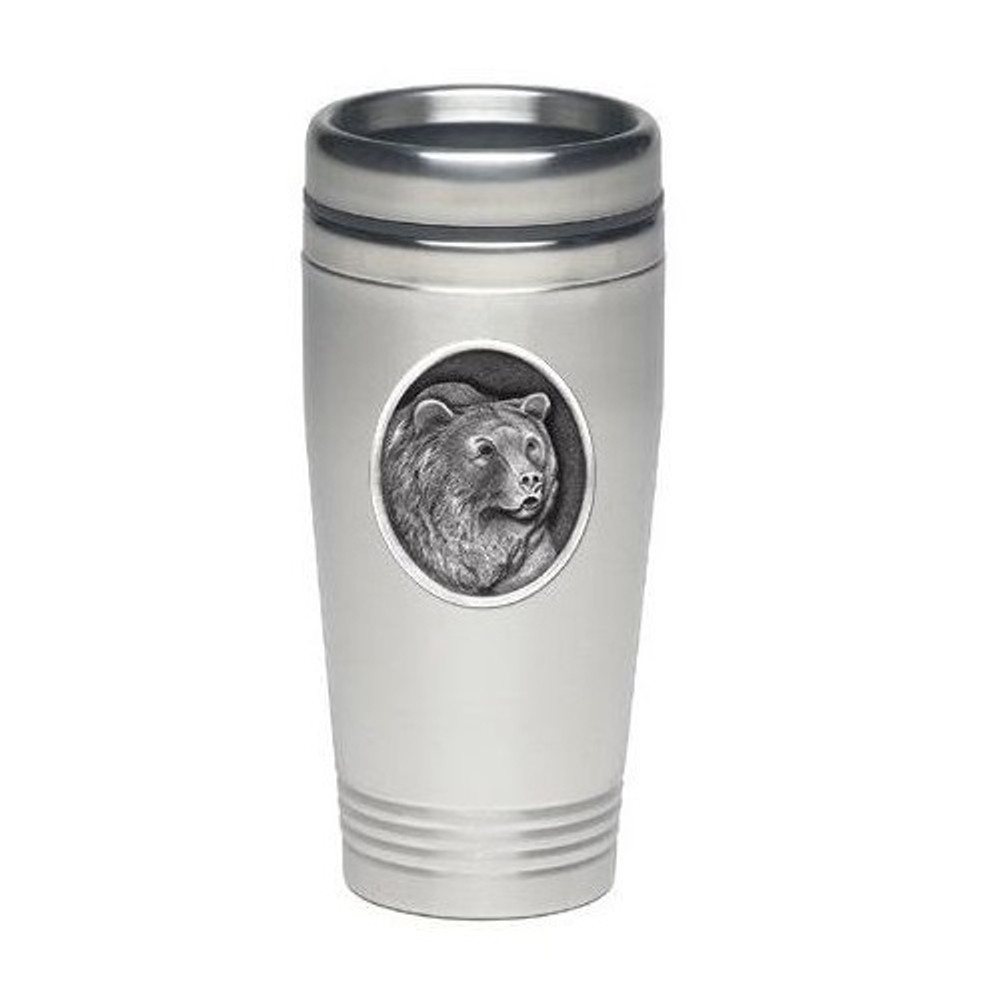 Grizzly Bear Thermal Travel Mug | Heritage Pewter | HPITD201