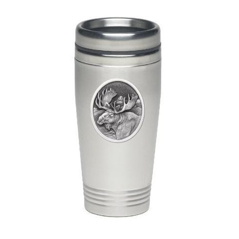 Moose Thermal Travel Mug | Heritage Pewter | HPITD204