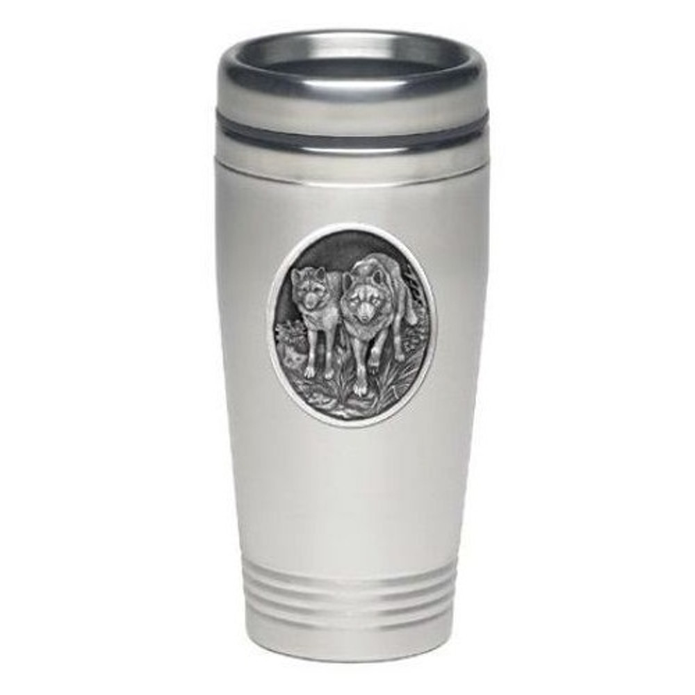 Wolf Thermal Travel Mug | Heritage Pewter | HPITD205