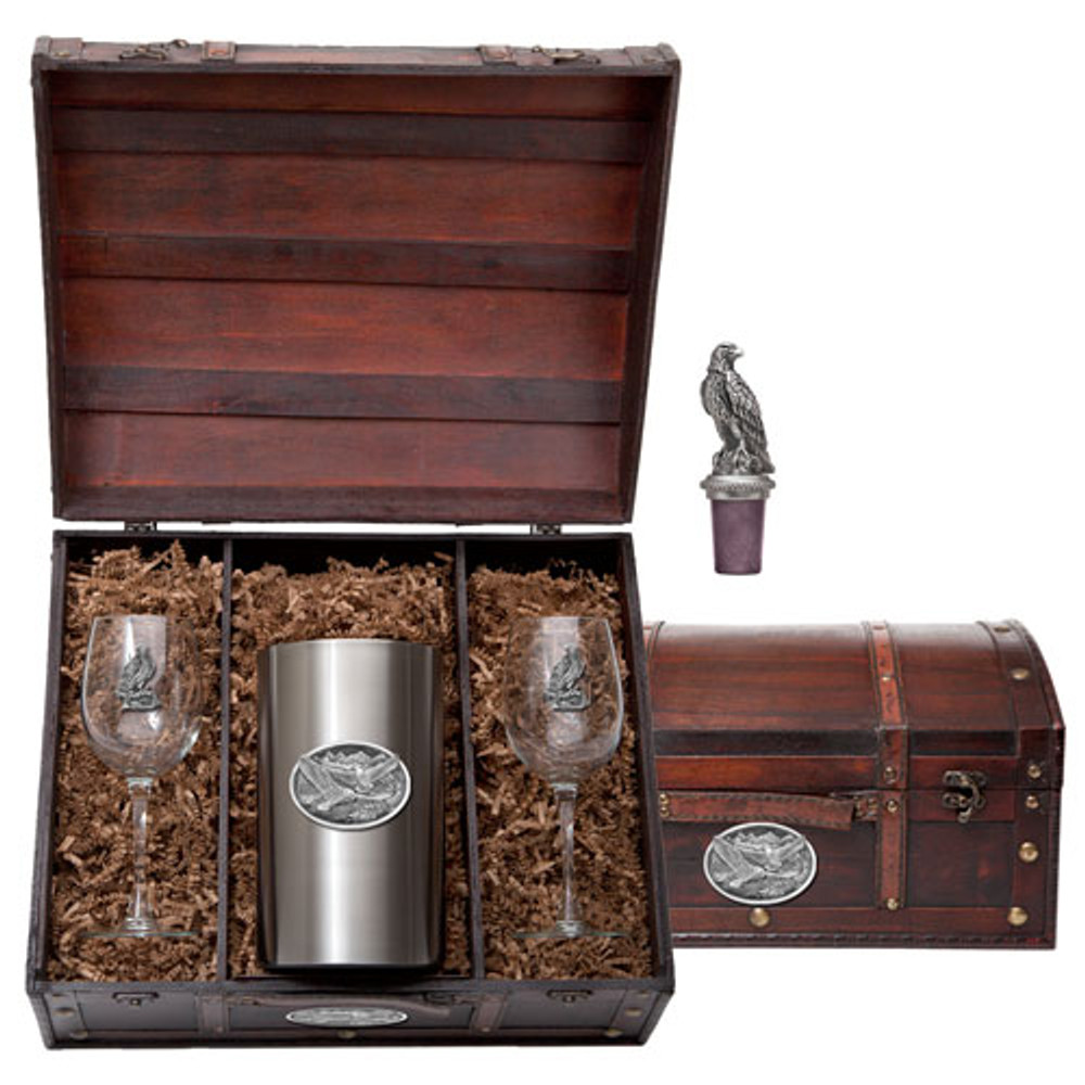 Eagle Wine Chest Set | Heritage Pewter | HPIWSC109